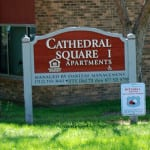 Cathedral Square Sign